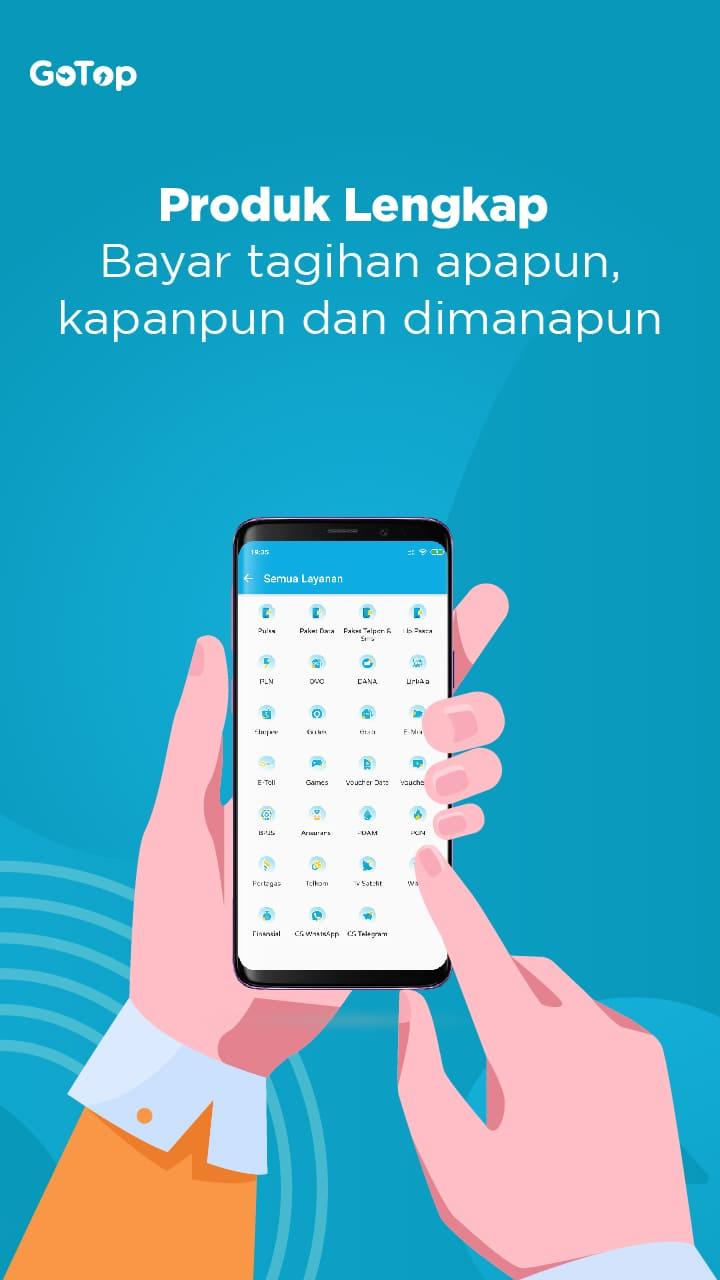 Gotop Aplikasi Agen Pulsa Dan Kuota Termurah Di Indonesia 2