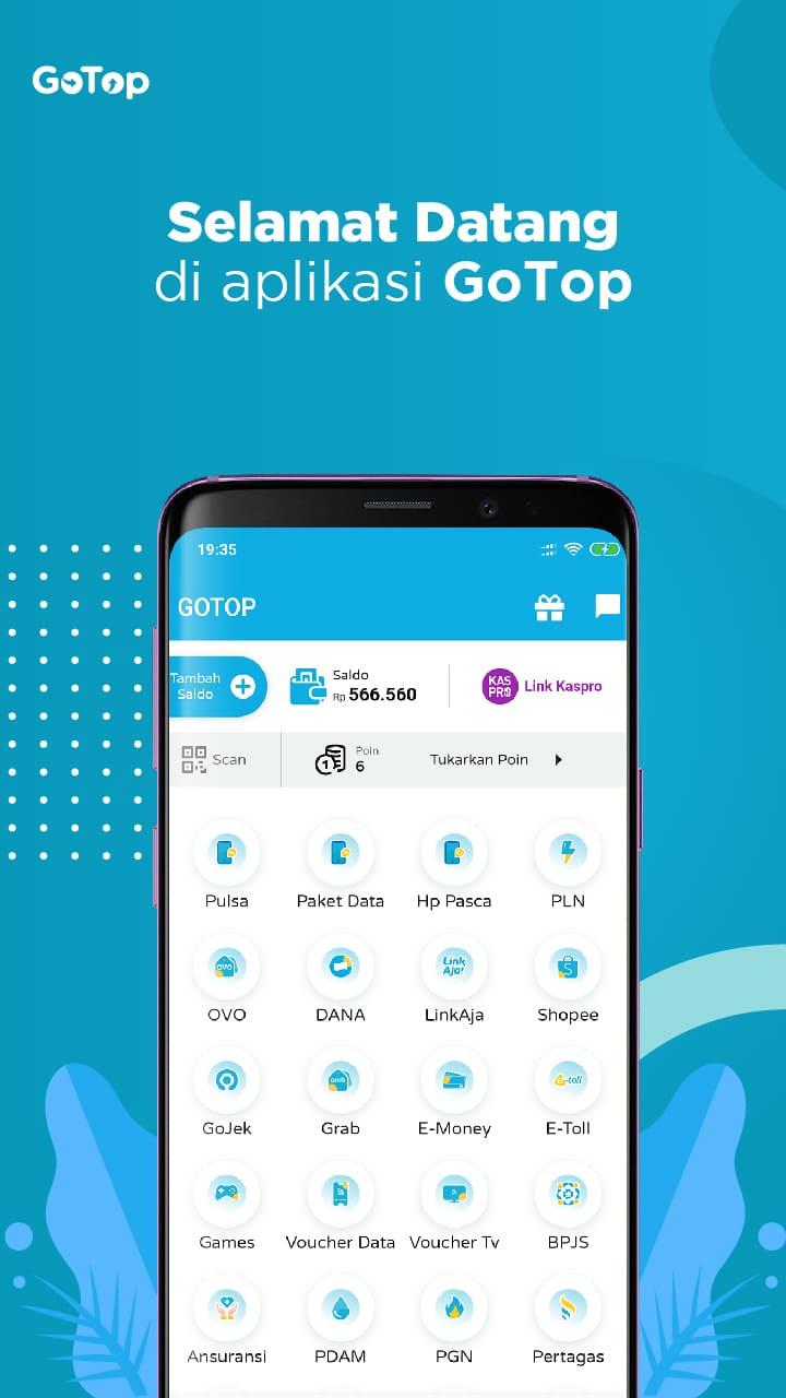 Gotop Aplikasi Agen Pulsa Dan Kuota Termurah Di Indonesia 1